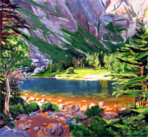Chimney Pond Dream print by Marsha Donahue