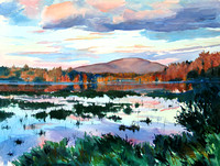 Trout Mountain from Compass Pond by Marsha Donahue